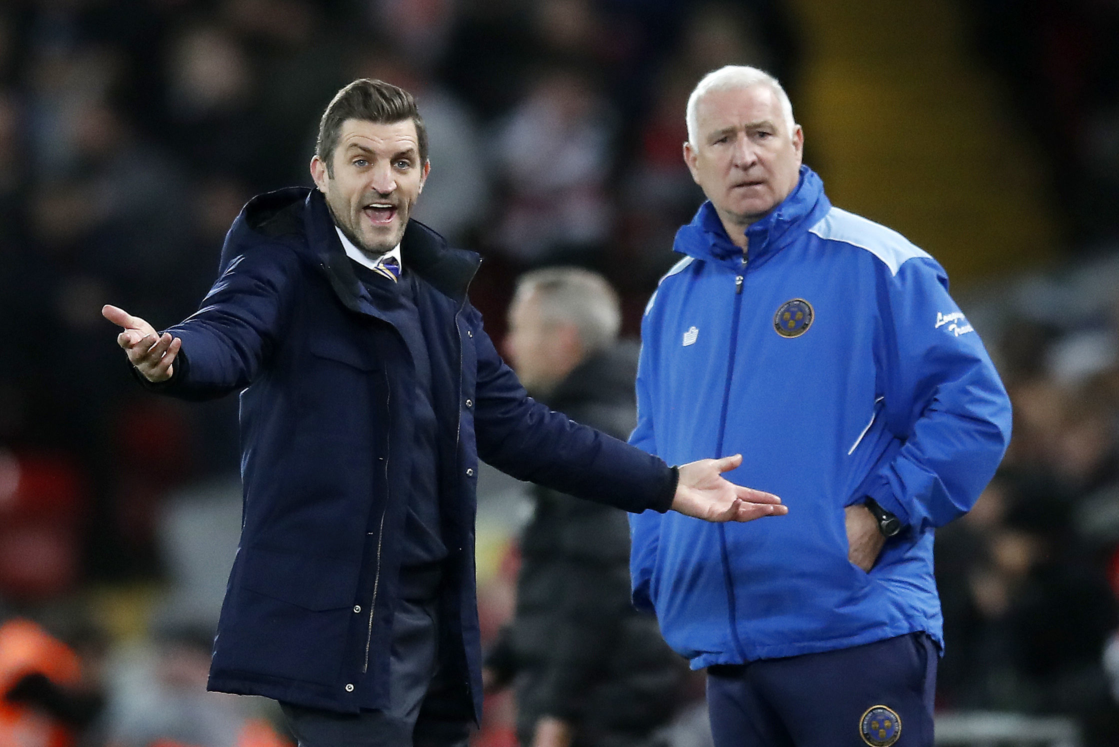 Sam Ricketts was previously the manager of Shrewsbury Town (Martin Rickett/PA)