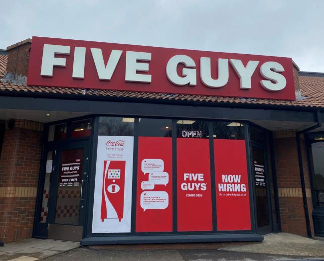Five Guys High Wycombe to open this month