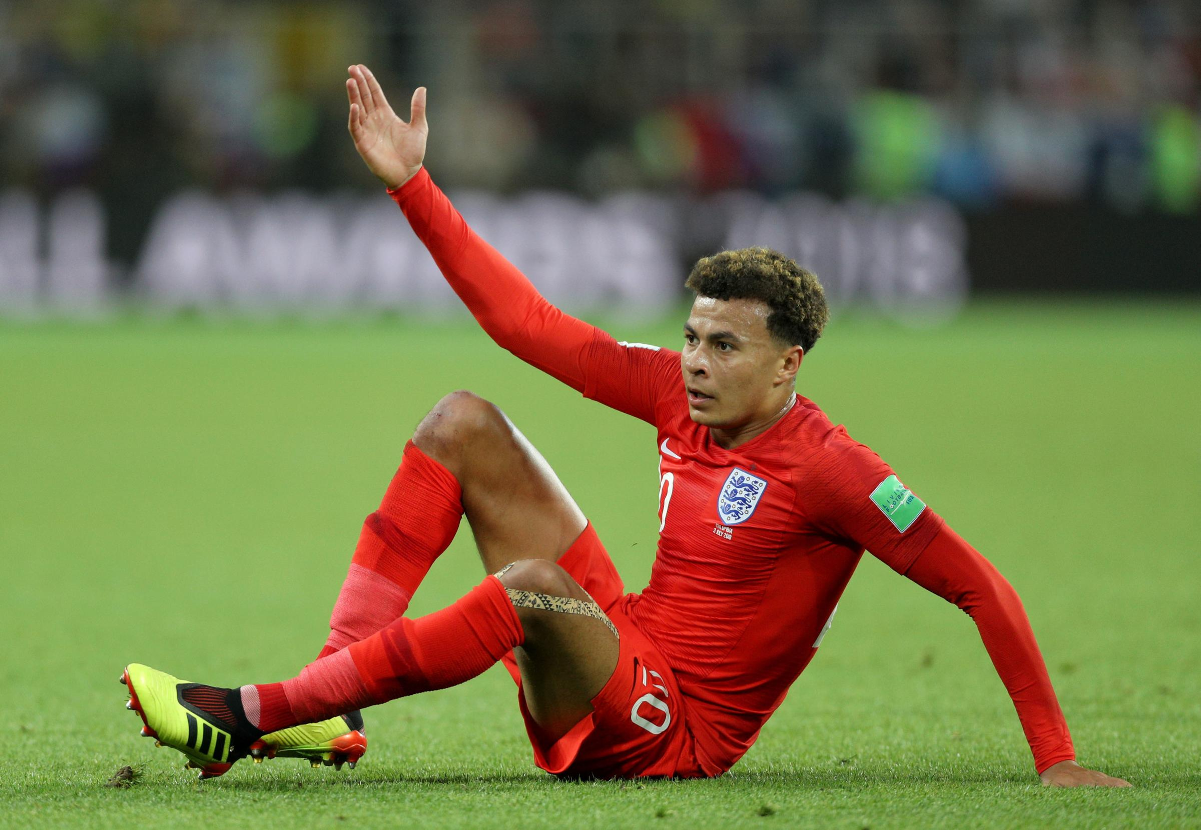Dele Alli scored at the 2018 World Cup for England against Sweden (PA)