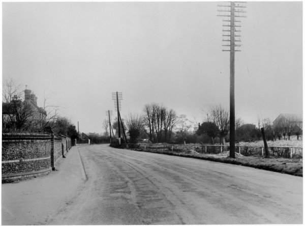 This week, we're in Loudwater for Then and Now. This first photo is from 1927 and is looking east along London Road from the Rayners Avenue junction. The road now is definitely a lot busier than this first photo shows, but it is still recognisable.