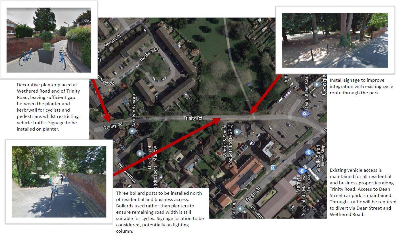 Trinity Road queitway trial proposal