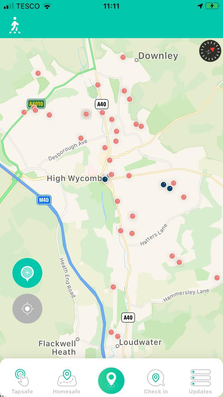 The crimes reported in High Wycombe
