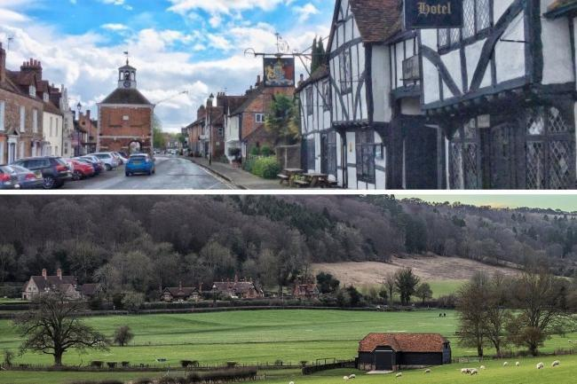 Amersham and Hambleden Valley have been named among the best places to live in south east England.