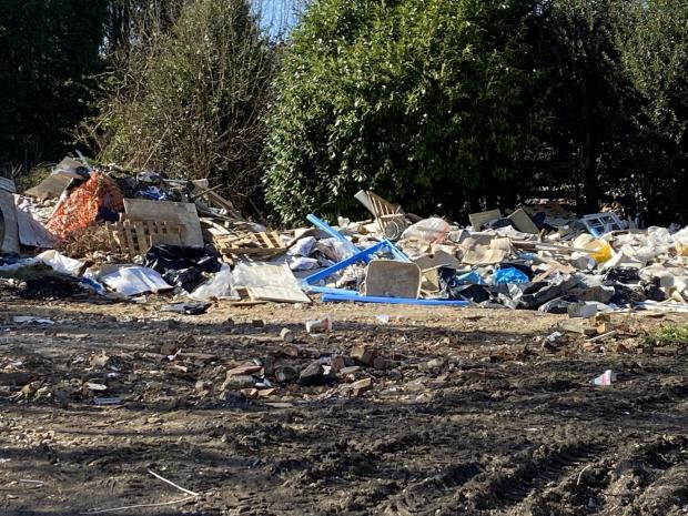 Bucks Free Press: Some of the rubbish that has been piling up