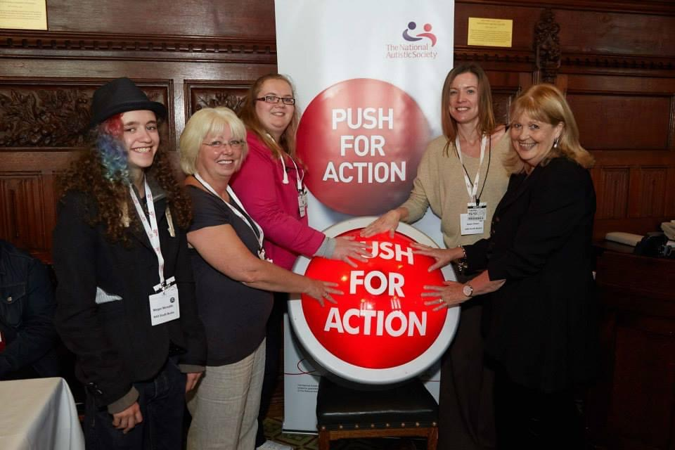 Bucks Free Press: Photo taken at the Push for Action rally at Parliament, run by the National Autistic Society