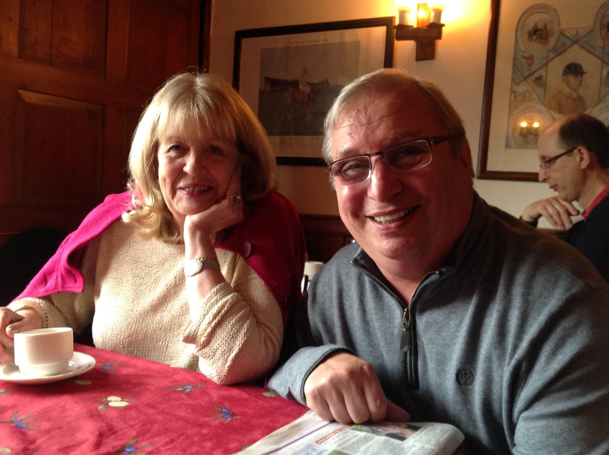 Bucks Free Press: Cheryl Gillion MP and Martin King at the Red Lion, Little Missenden 2014