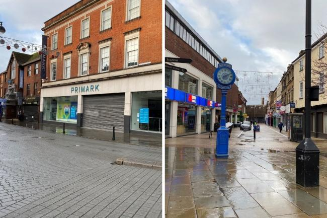 File photos of High Wycombe town centre