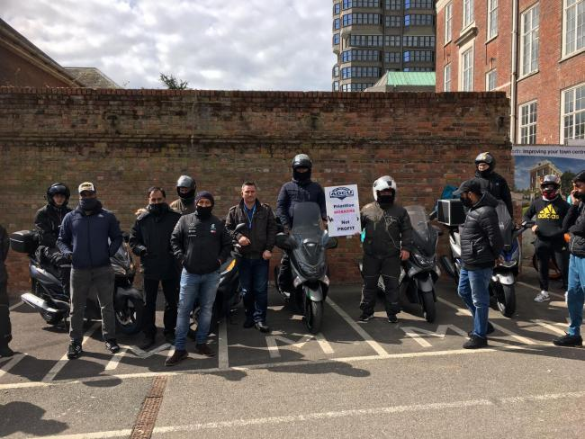 Several drivers and drivers went on strike in Aylesbury on April 7