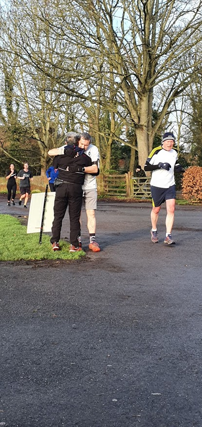 Bucks Free Press: Sharing a bit more than just a high-five at one of the last parkrun's before lockdown
