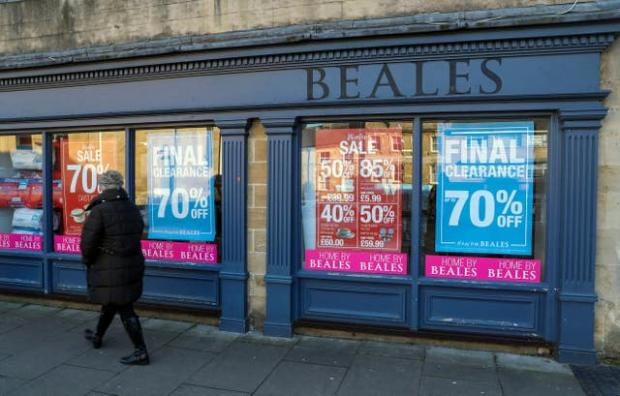 Bucks Free Press: Beales opened its doors for the final time in March 2020. (PA)