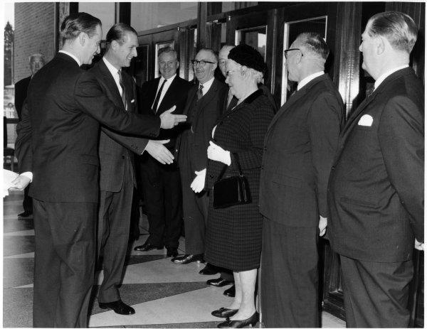 Bucks Free Press: Visit by Duke of Edinburgh to Technical College, High Wycombe. May 1967