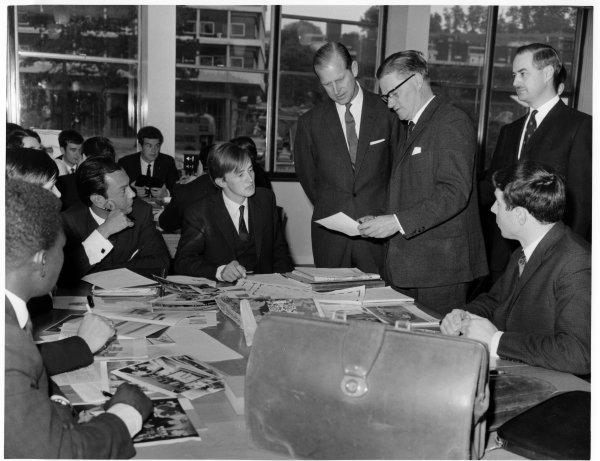 Bucks Free Press: The Duke of Edinburgh visiting the College of Technology and Art in Queen Alexandra Road, High Wycombe. May 1967