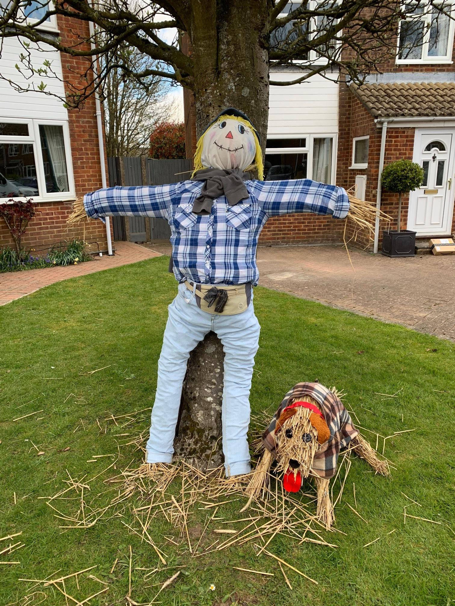 There are over 50 scarecrows