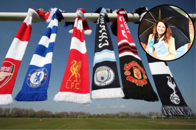 Main picture of scarves belonging to England's 'big six' clubs: PA