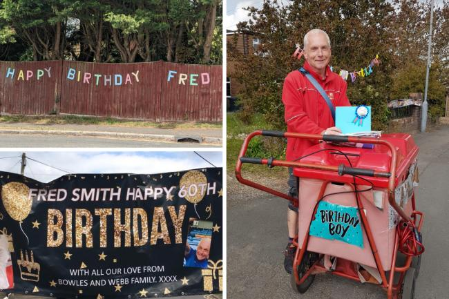 Residents raise over £1700 for 'The Marlow Murder Club' postman's 60th birthday