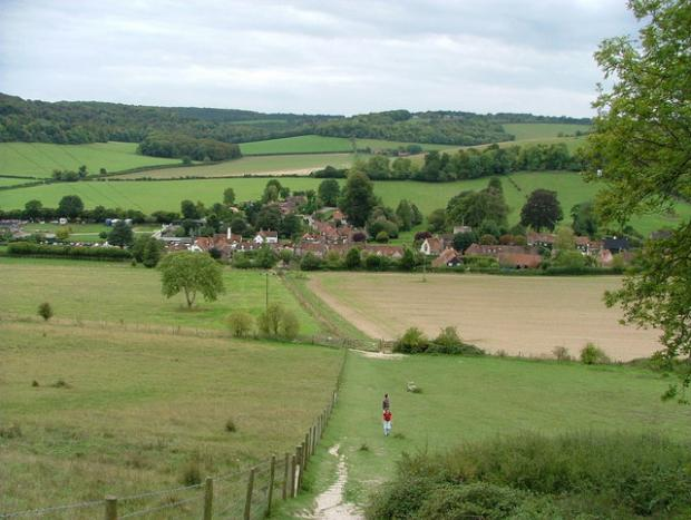 The original TV series was filmed in Turville, Bucks