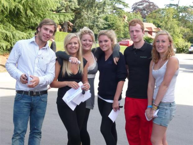 Shiplake pupils celebrating their A-Level results