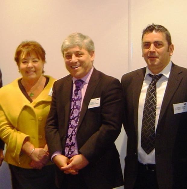 Rt Honourable John Bercow MP with Oasis CEO, Colin McGregor-Paterson and Oasis Chair, Stella Haylett