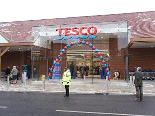 Controversial Tesco store opens to flood of shoppers