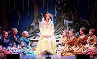 Cilla Black with cast of Cinderella