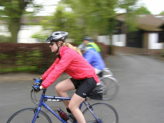 A PedalPush rider setting off from Hearing Dogs on the 50 mile route last year