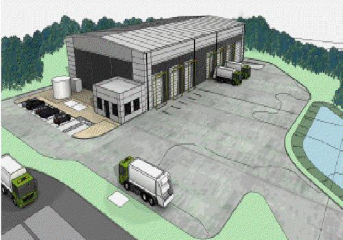 A design of the proposed waste transfer station