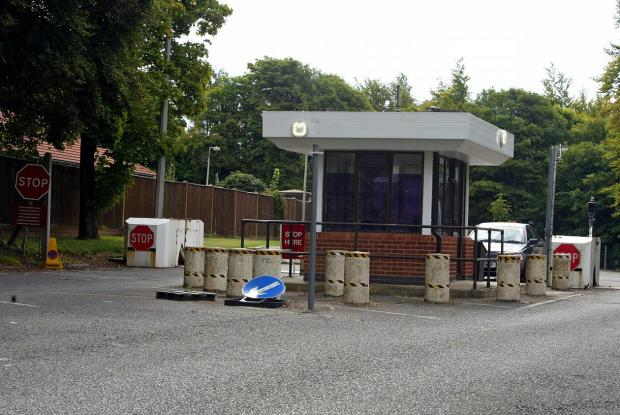 The entrance to RAF Daws Hill