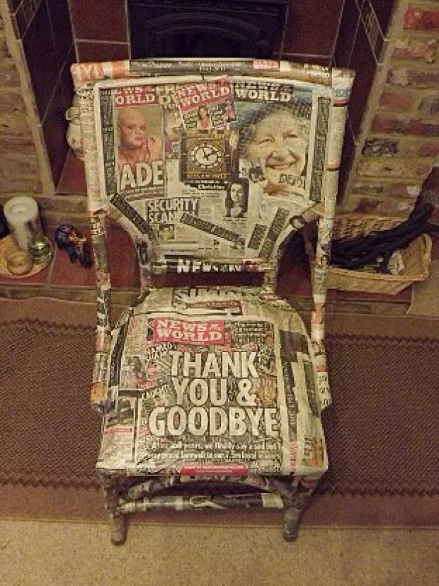 Final edition turned into a chair