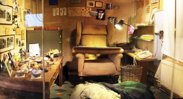 Roald Dahl's Writing Hut goes on display today
