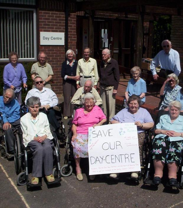 Pensioners who use the centre protesting against the closure plans when they were announced.