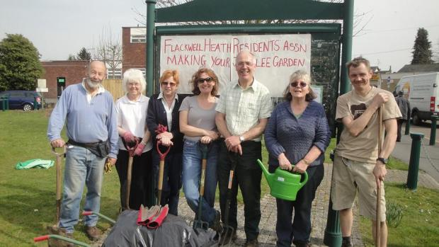 Members of Flackwell Heath residents association in 2012