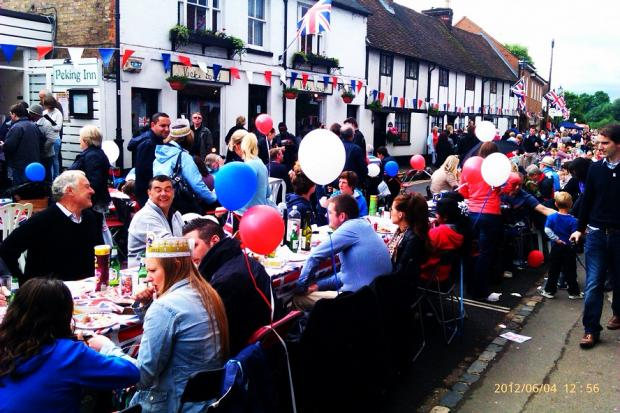 Video: Cookham High Street transformed for jubilee