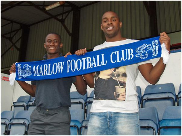 New Marlow manager Mark Bartley (left) with assistant Marcus Richardson