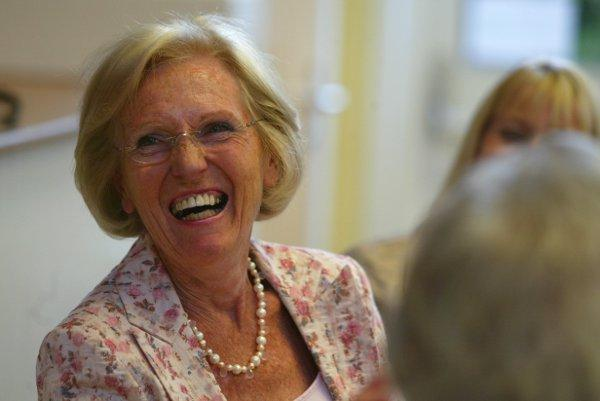 Mary Berry at a charity fundraiser in Tylers Green in 2008