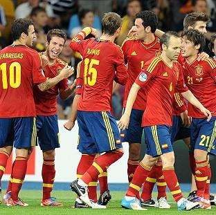 Goals from David Silva (right), Jordi Alba (second left), Fernando Torres and Juan Mata won Euro 2012 for Spain