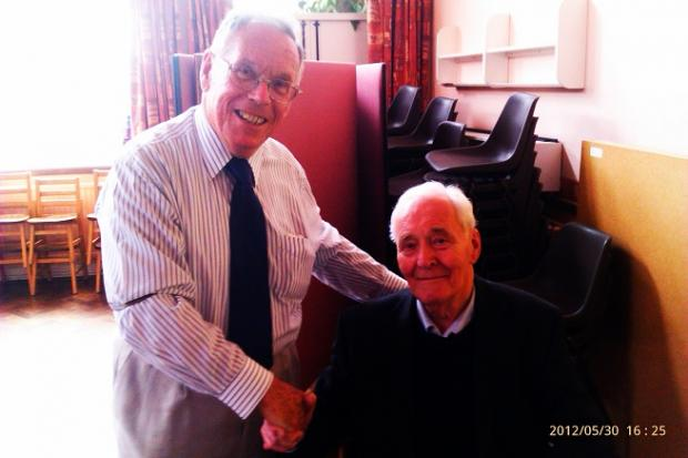 Ken Walker with Tony Benn