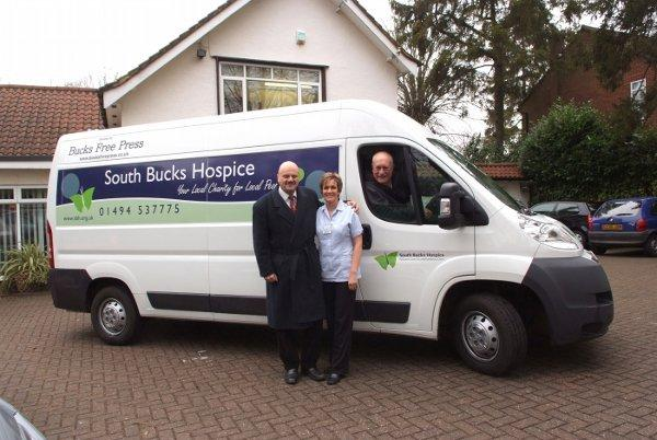 The South Bucks Hospice was awarded funding for this van by the Gannett Foundation.
