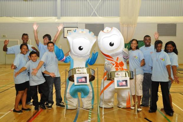 Wycombe Steel Orchestra meets the Olympic Mascots