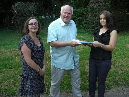 Natalie Allen (right) handed in the petitions to Chepping Wycombe Parish Council in the summer. Picture courtesy of The Grapevine