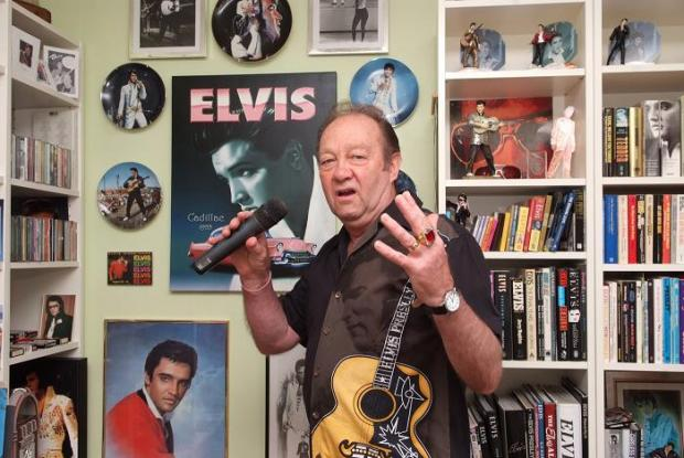 Billy Gallacher in his Elvis room