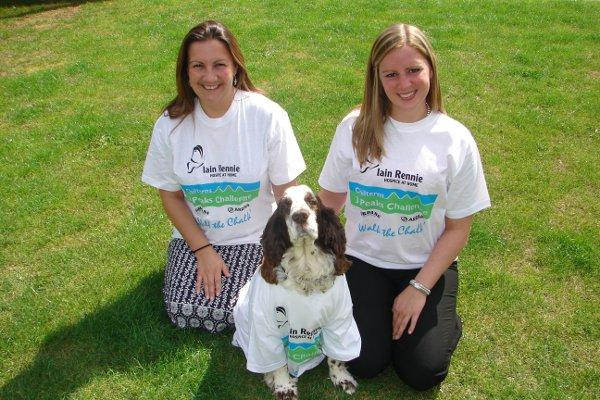 Kerri and Ruth from IRGHHC and Teazer the dog