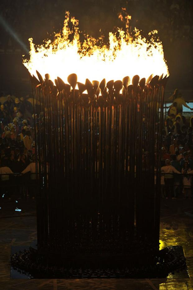 The flame will be extinguished at the closing ceremony