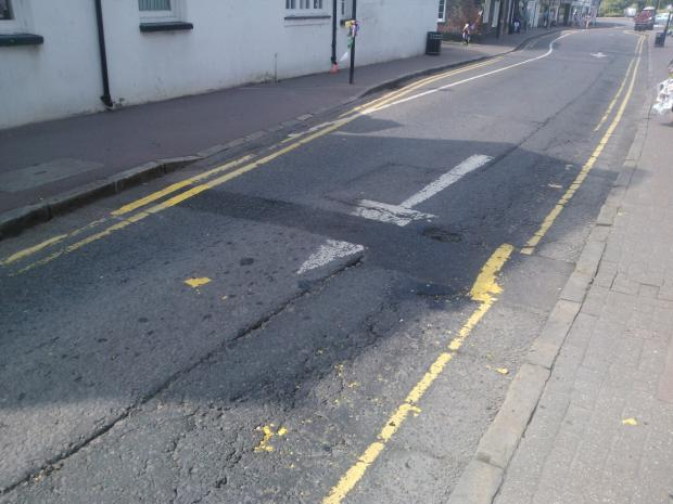 Risborough worker slams yellow line repainting as a waste of money