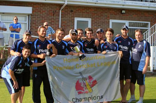 Matthew Eyles, second left, led Wycombe to their second successive title last summer