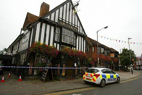The Cross Keys in Marlow after the fight