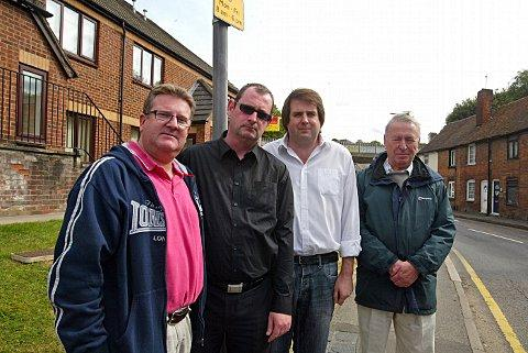 The petition was started by Cllr Peter Hudson (second from right)