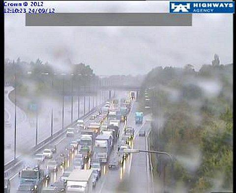 Delays on the M40 after accident