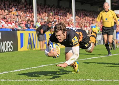 Elliot Daly scored Wasps' 12 try of the season