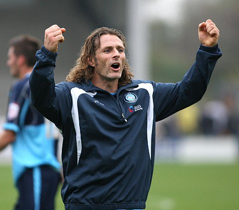 Gareth Ainsworth was happy to prove his dad wrong by setting up the winner for Matt McClure