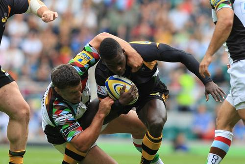 Christian Wade tangles with Quins at Twickenham